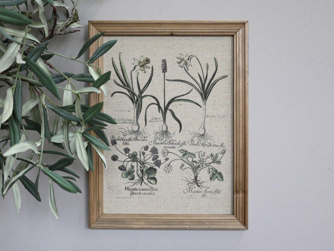-Bild mit Blumendruck und Naturrahmen Variante 2 von Chic Antique-