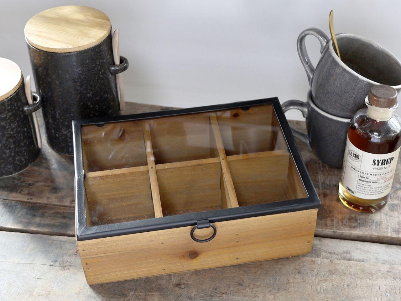 -Box mit 6 Fächern von Chic Antique-