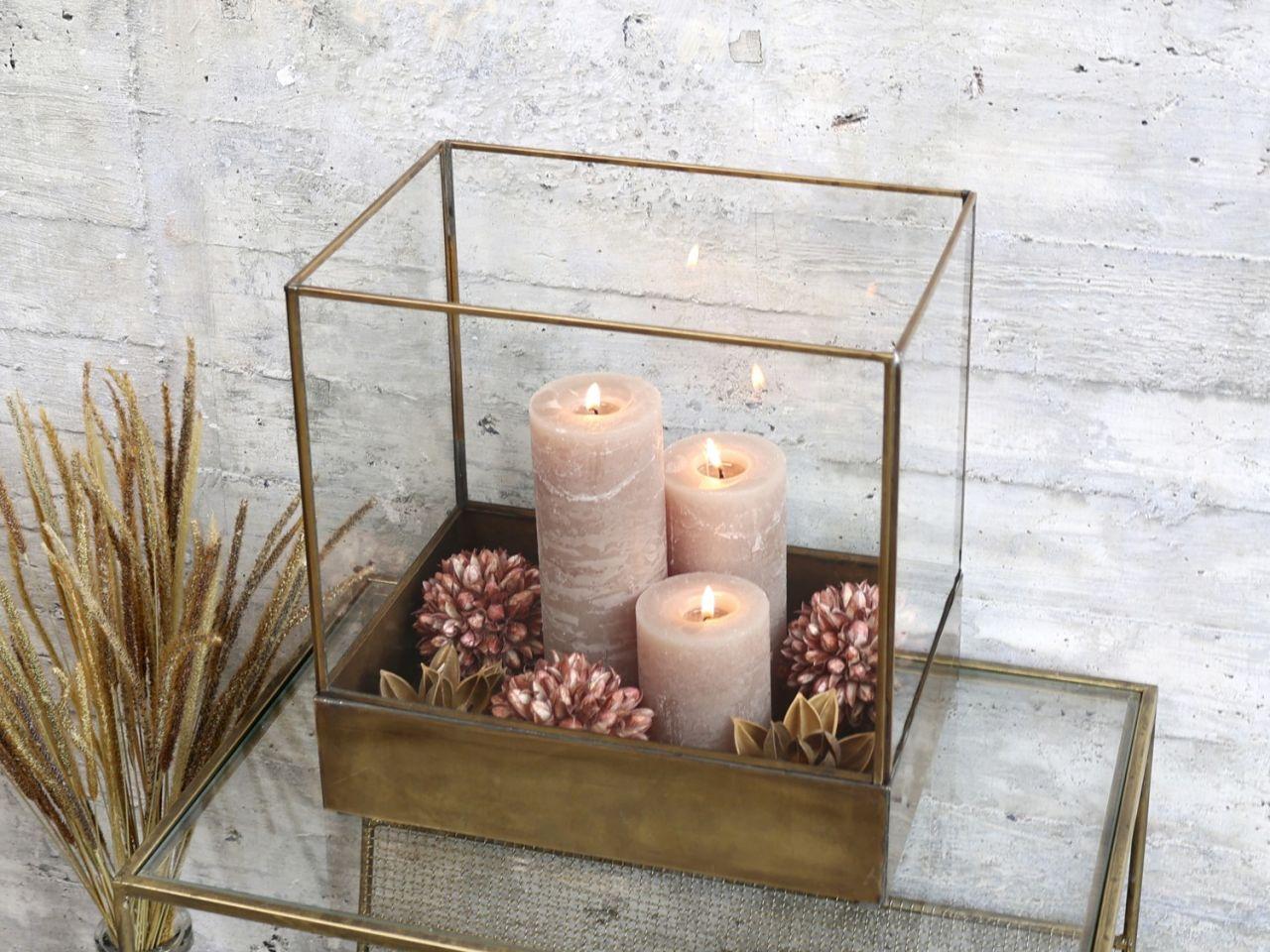 -Display aus Glas und Eisen von Chic Antique-
