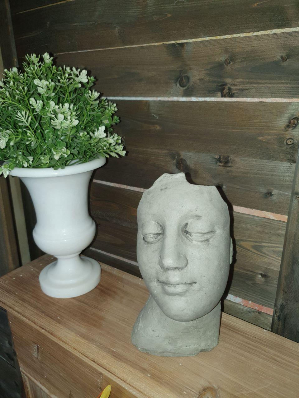 -Gartenfigur Kleines Gesicht- antik-