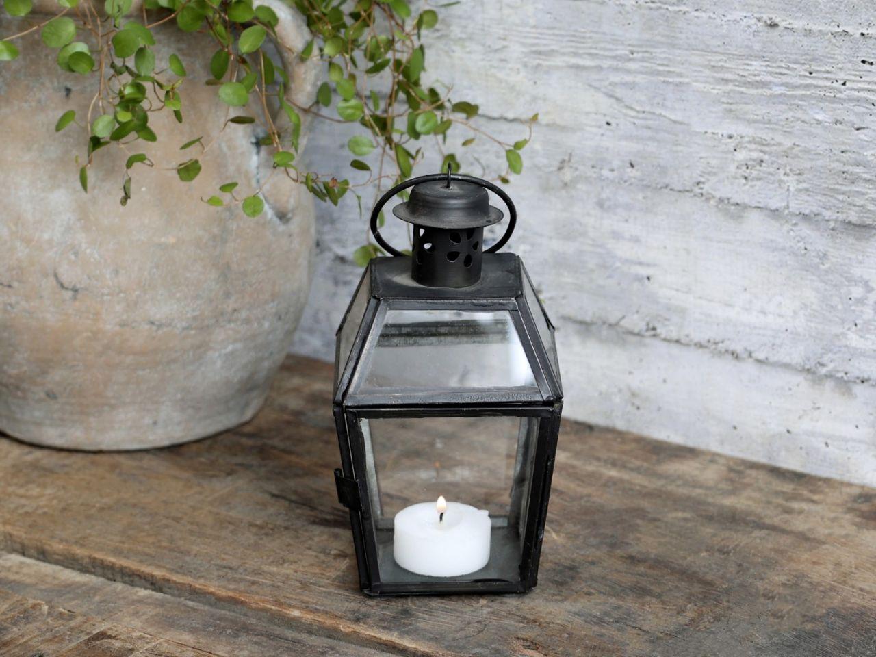 -Laterne aus Eisen und Glas von Chic Antique-