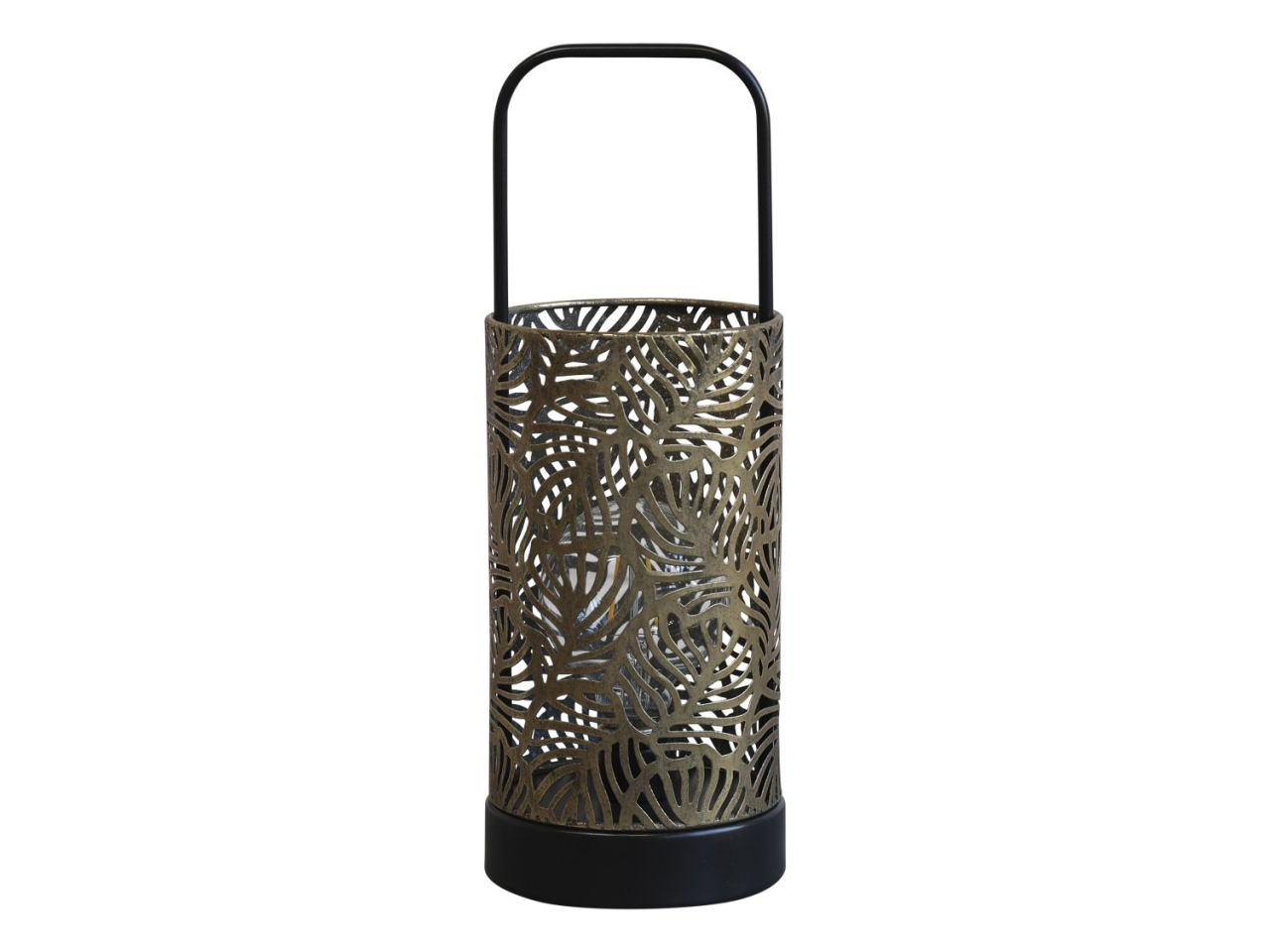 -Laterne mit Muster m- Glühbirne und Timer von Chic Antique-