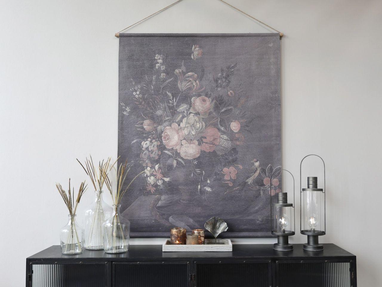 -Leinwandbild zum Aufhängen mit Blumendruck Variante 1g von Chic Antique-