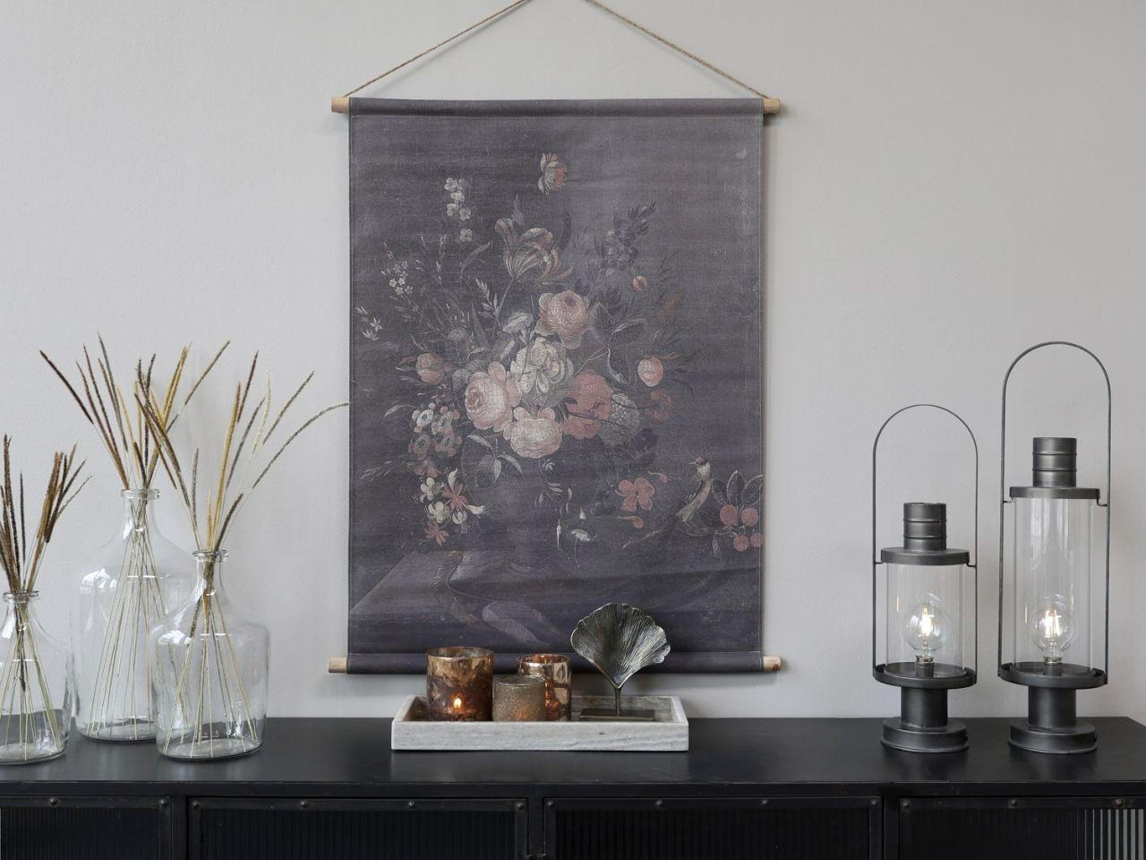 -Leinwandbild zum Aufhängen mit Blumendruck Variante 1k von Chic Antique-