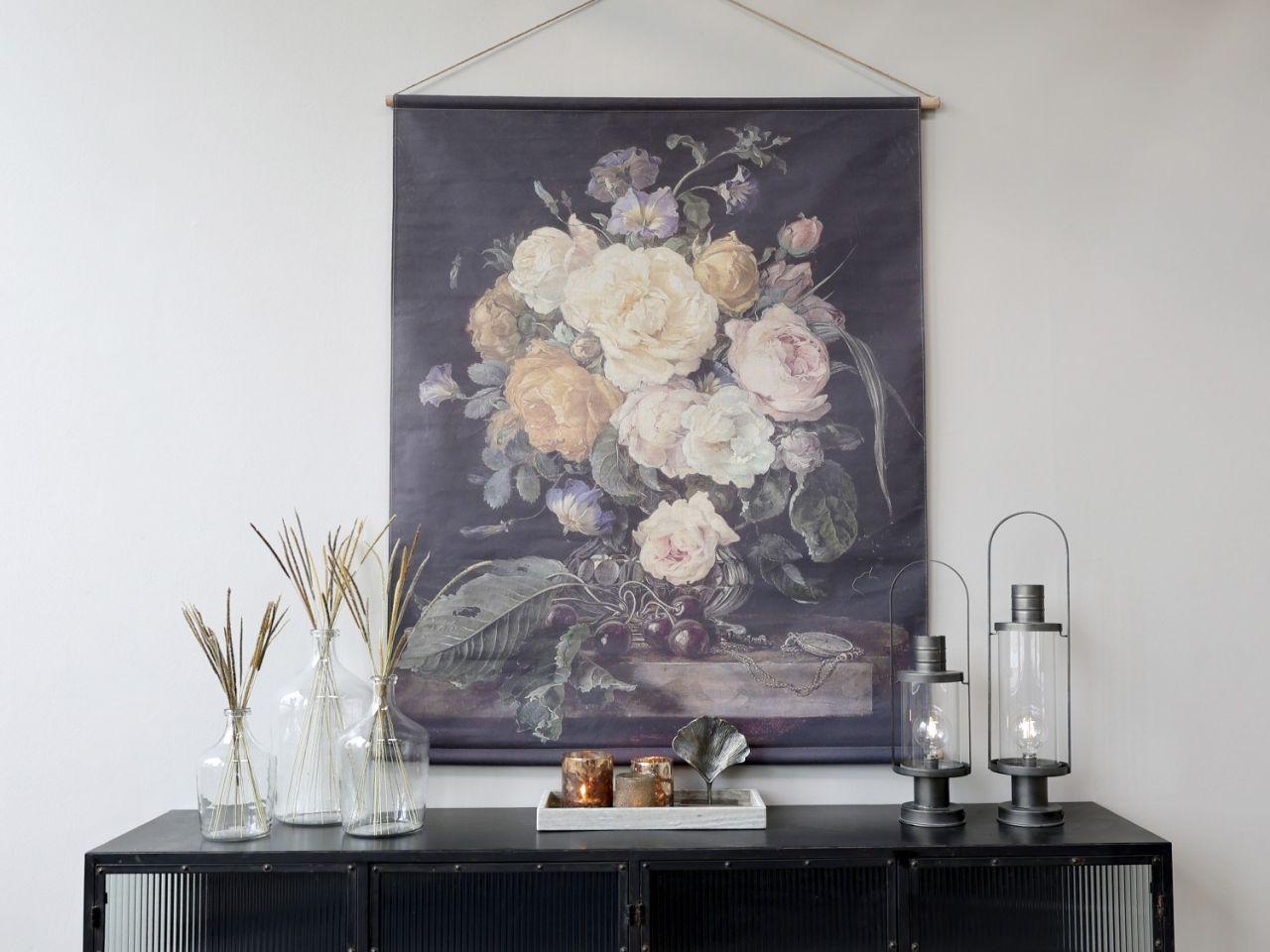 -Leinwandbild zum Aufhängen mit Blumendruck Variante 2g von Chic Antique-