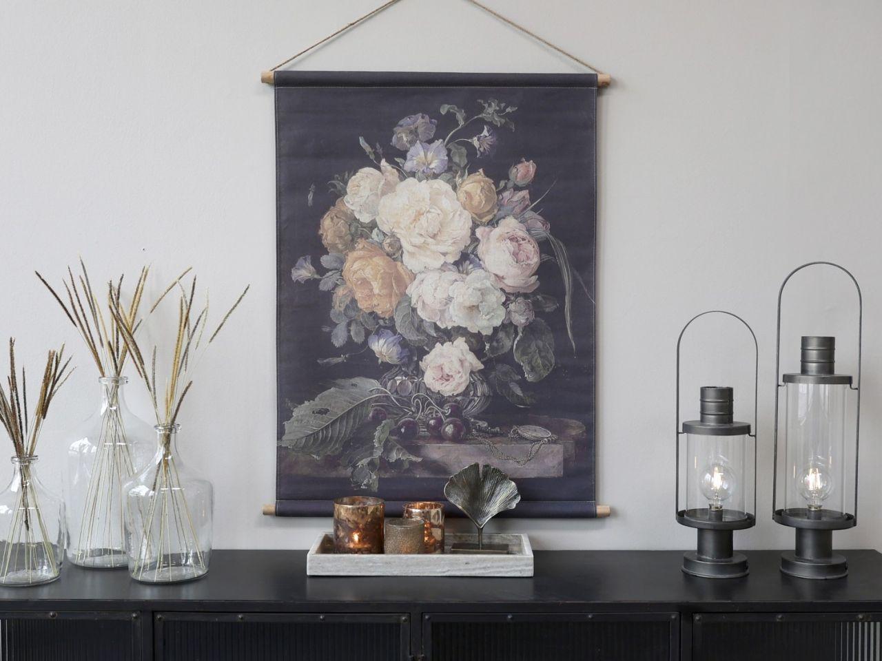 -Leinwandbild zum Aufhängen mit Blumendruck Variante 2k von Chic Antique-
