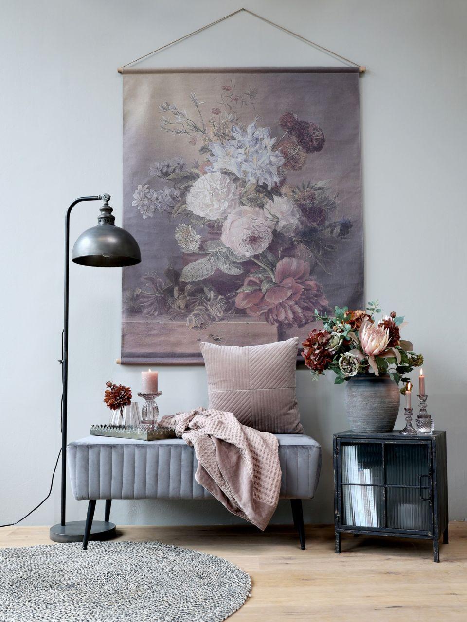 -Leinwandbild zum Aufhängen mit Blumendruck Variante 3g von Chic Antique-