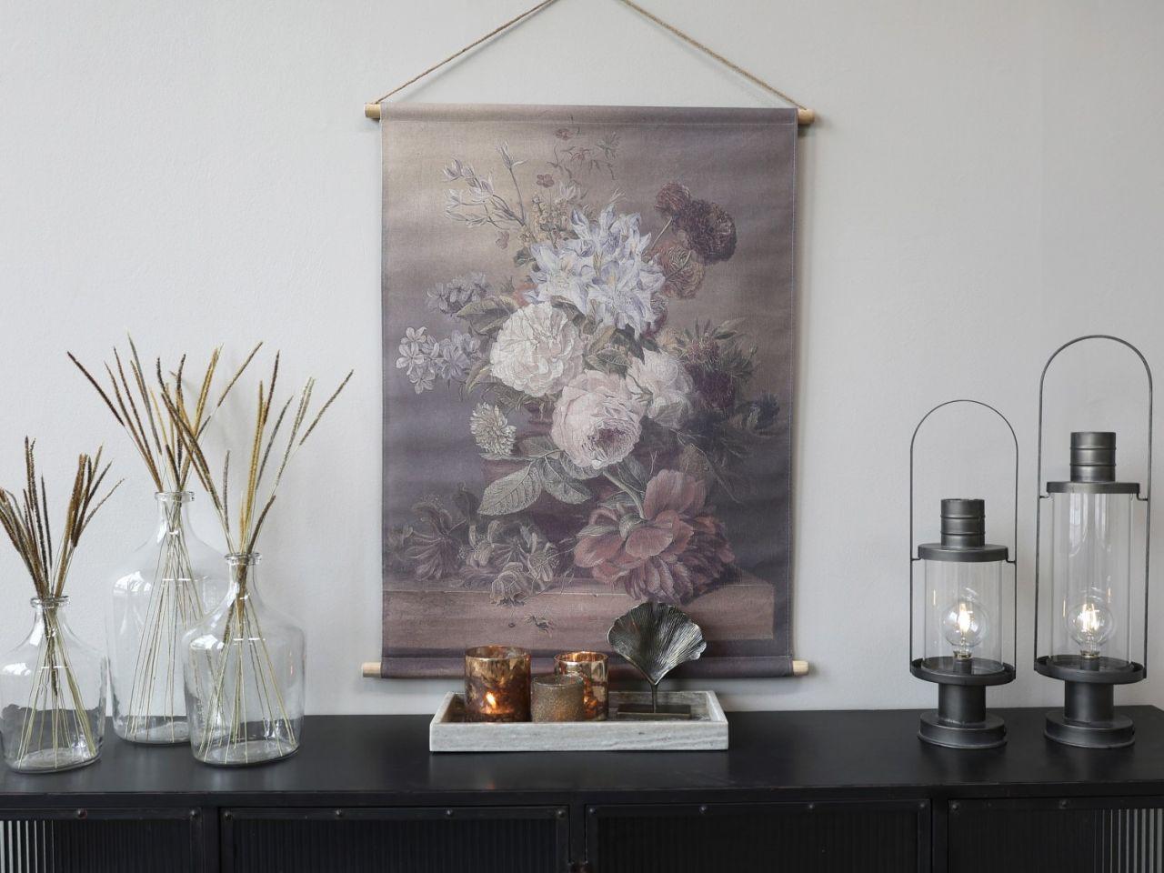 -Leinwandbild zum Aufhängen mit Blumendruck Variante 3k von Chic Antique-