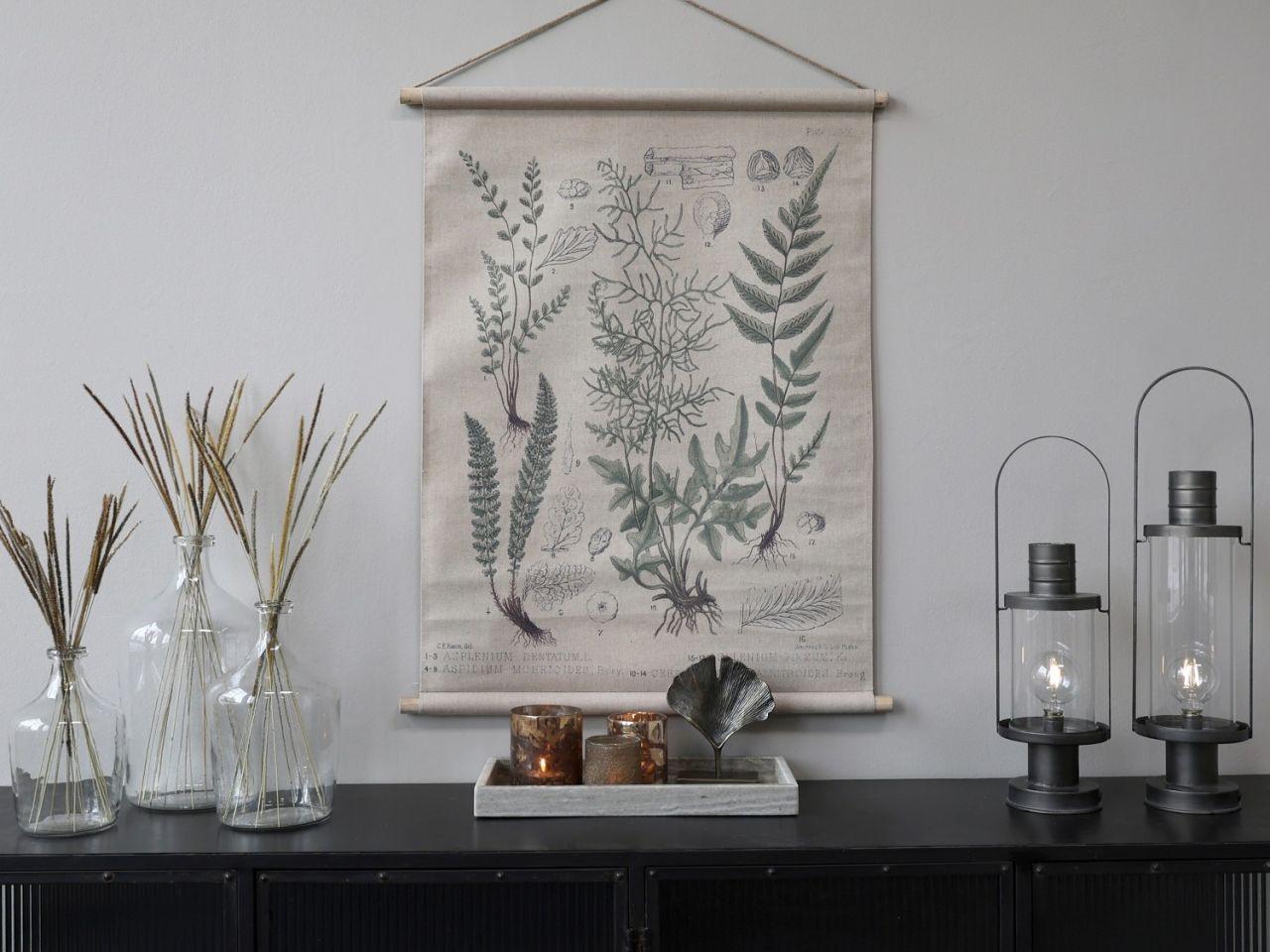 -Leinwandbild zum Aufhängen mit Blumendruck Variante 4 von Chic Antique-