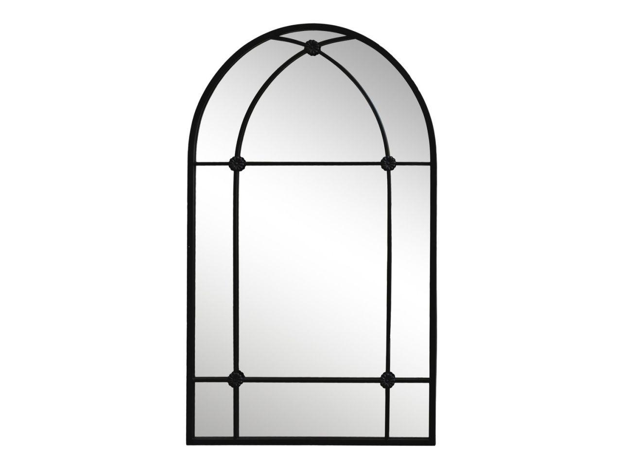 -Spiegel mit Bogen schwarz von Chic Antique-