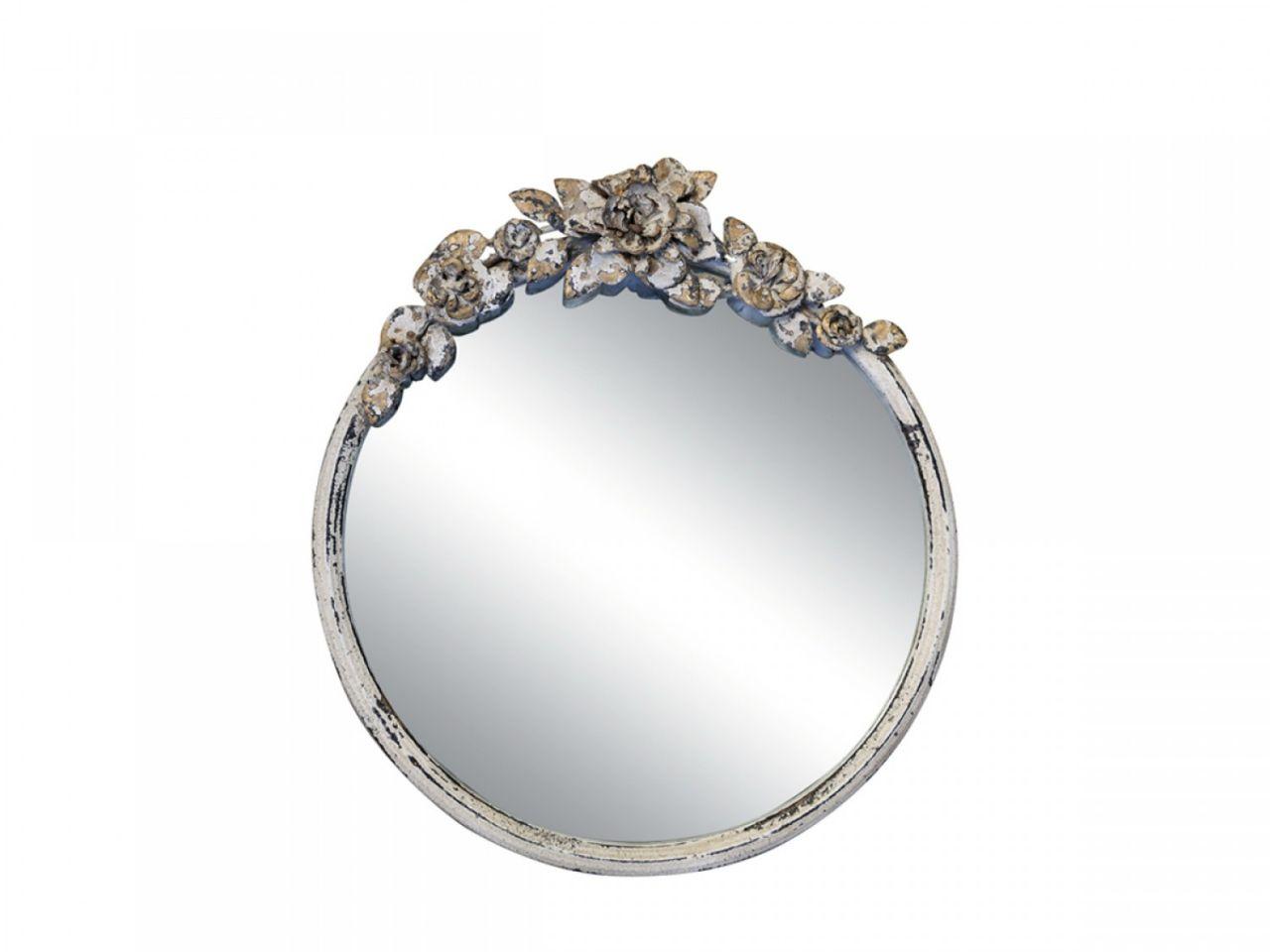 -Spiegel mit Rosendekoration von Chic Antique-