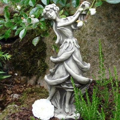 Blütentänzerin Rose- Betonguss- für Metallstab von Zauberblume