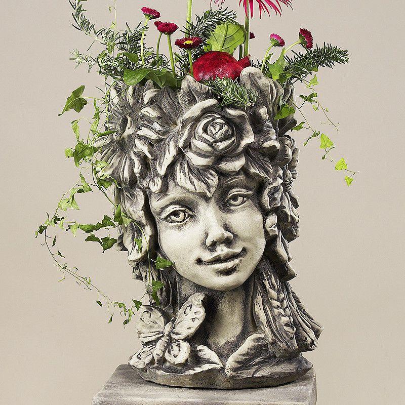 Blütentopf Sommer- Betonguss-von Zauberblume