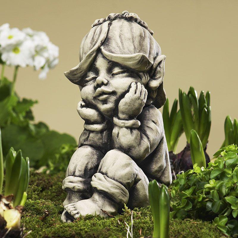 Blütentroll Goldlack- Betonguss-von Zauberblume