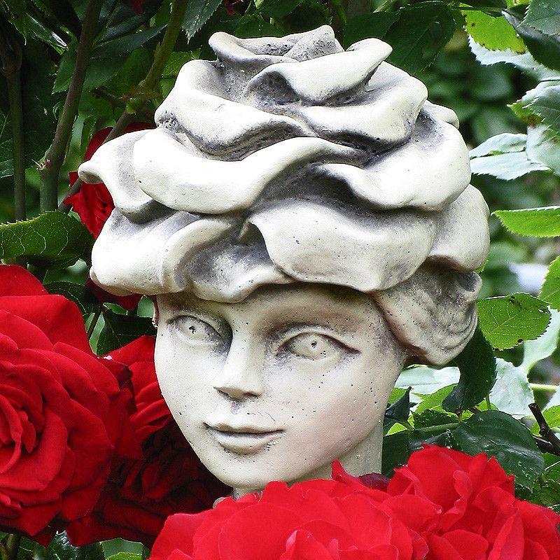 Blumenkind Edelrose- Betonguss-von Zauberblume