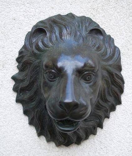 Bronzefigur Löwenkopf