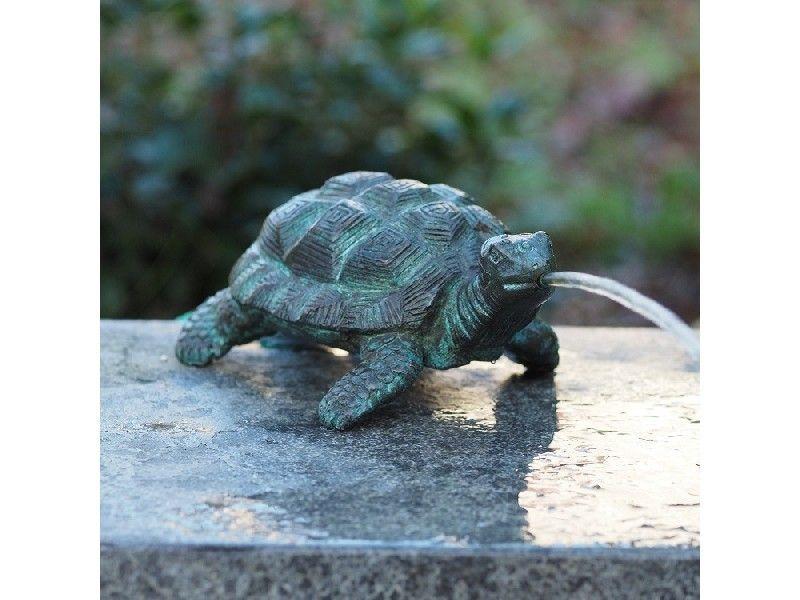Bronzefigur Schildkröte wasserspeiend
