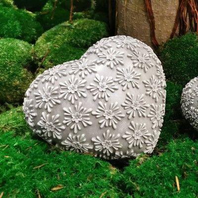 Dekoherz Flores- grau-weiss- Resin- 12-5 cmvon Zauberblume