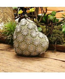 Dekoherz Zuhur- grün-weiss- Resin- 12-5 cmvon Zauberblume