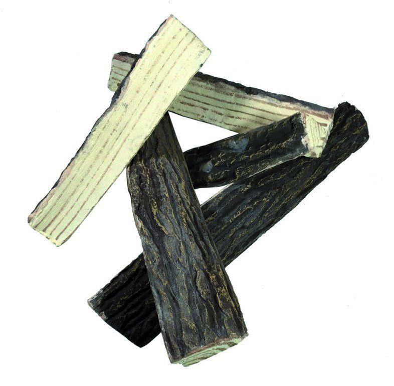 Dekor Brennholz gespalten