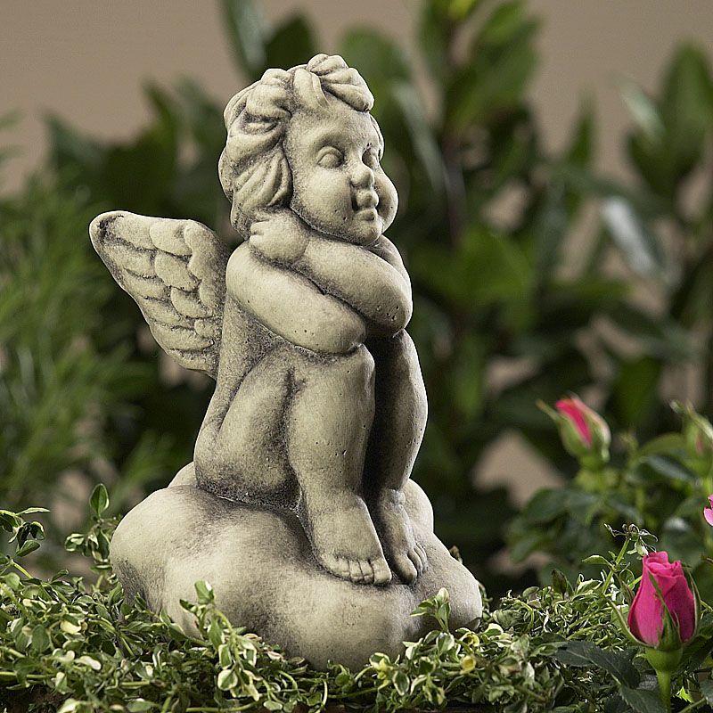 Engel Afriel- auf Wolke- Betonguss-von Zauberblume