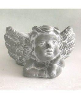 Engel mit Pflanztopf- Zementgussvon Zauberblume
