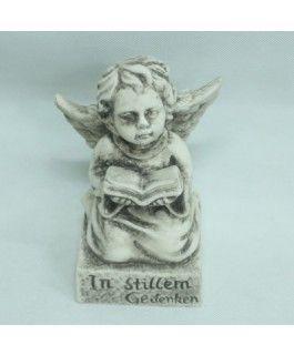 Engel mit Spruch- Zementgussvon Zauberblume