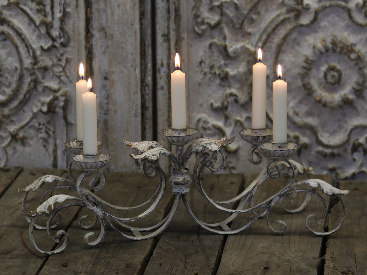 Franz- Kerzenständer für 5 Kerzen von Chic Antique