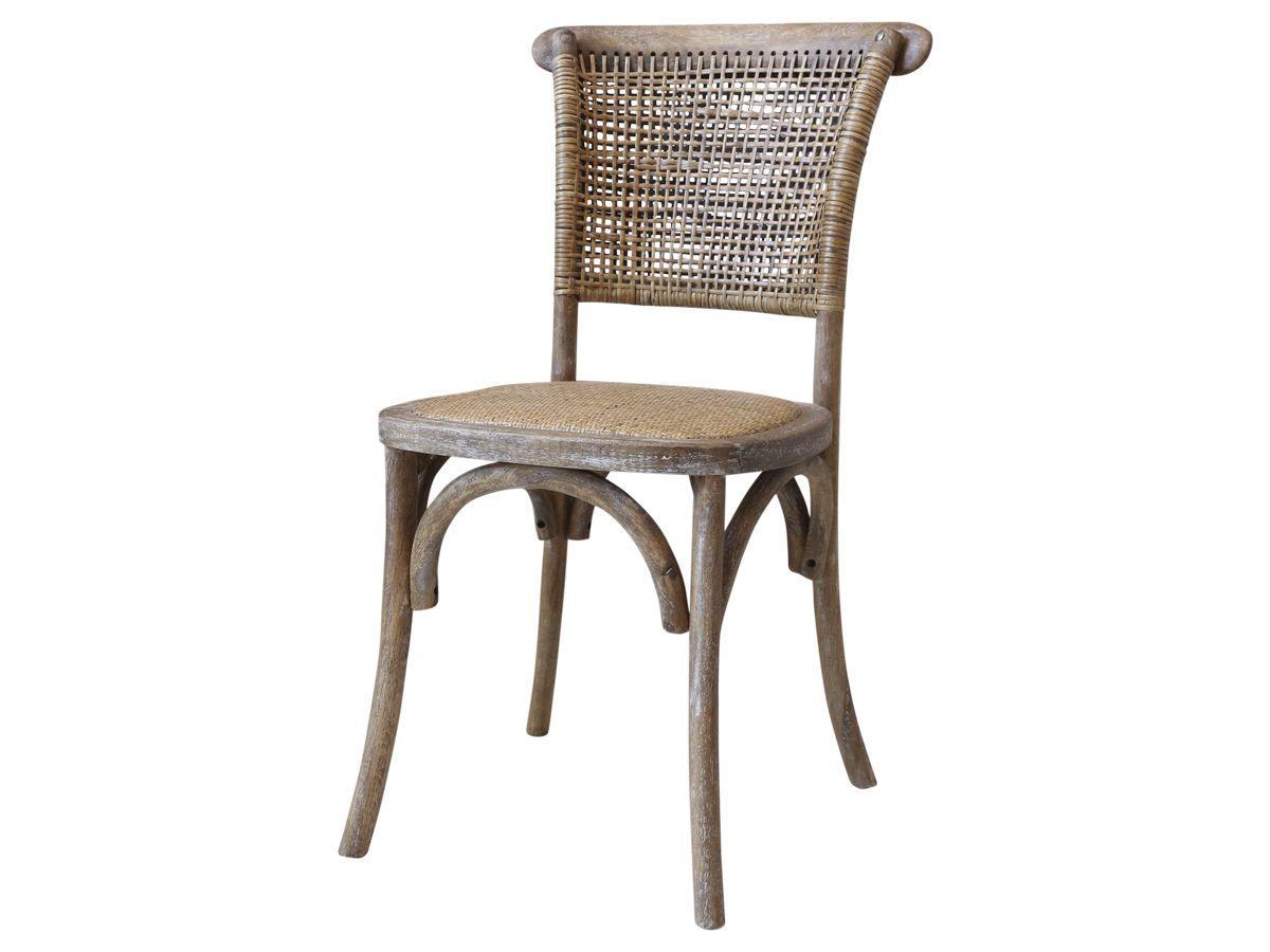 Französicher Stuhl mit Geflechtsitz und Rücken von Chic Antique