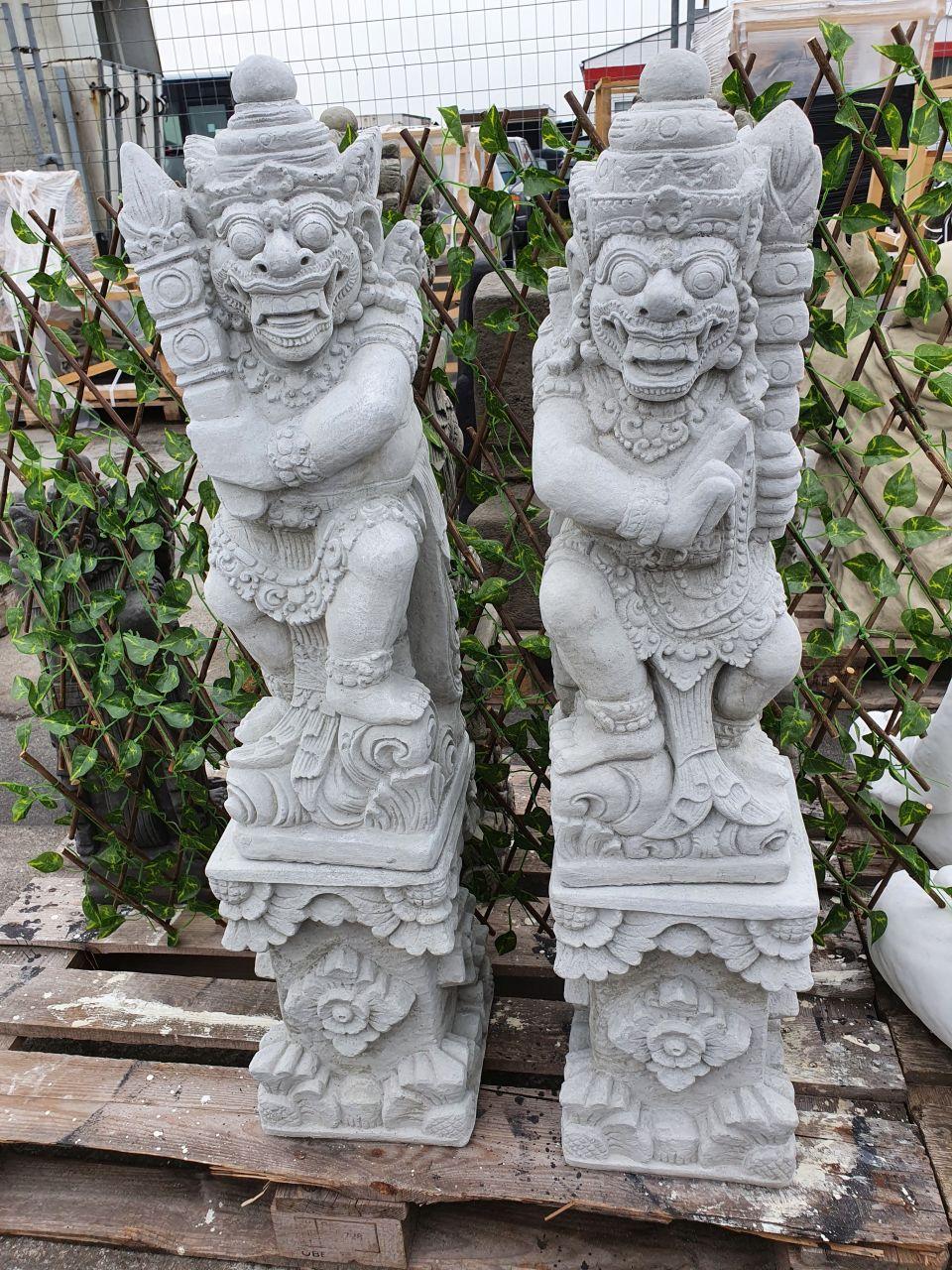 Gartenfigur Bali Krieger 2er Set ohne Sockel