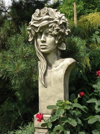 Gartenfigur Büste Moderne Romantik SOMMER (Rosi)- Steinguss