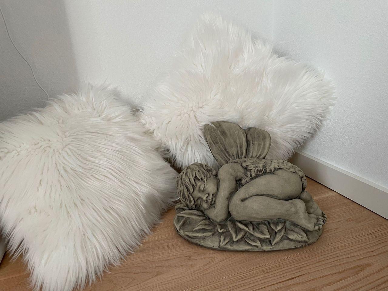 Gartenfigur Elfenkind DUNDIN- liegend- Steinguss