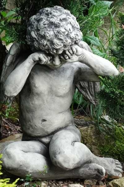 Gartenfigur Engel CALLIEL- Steinguss