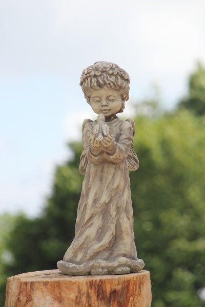 Gartenfigur Engel TALIA- stehend- Steinguss