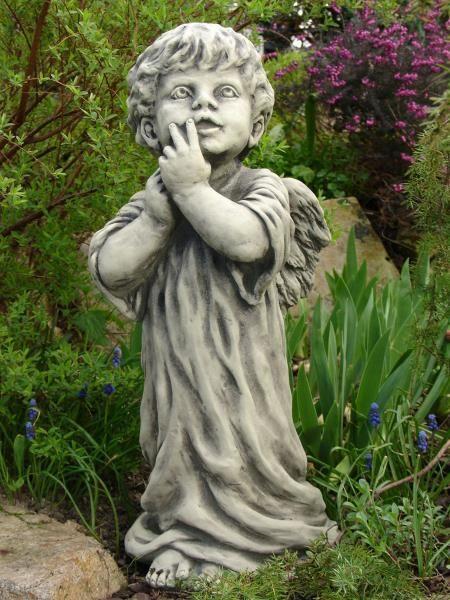 Gartenfigur Engel- ZECHIEL- Steinguss