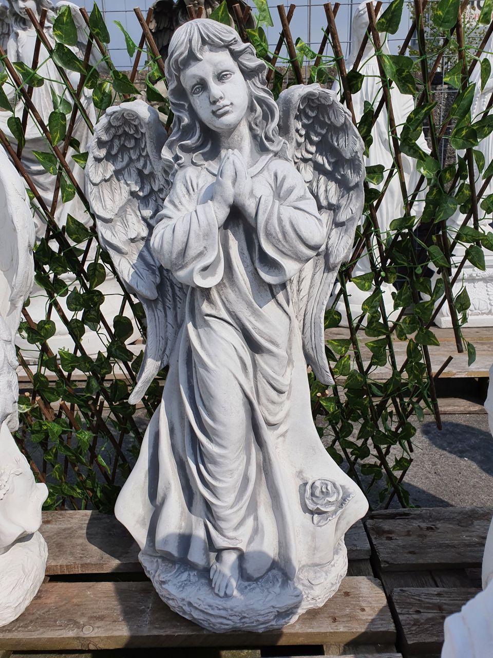 Gartenfigur Engelfrau betend- antik