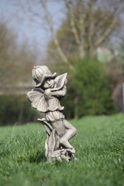 Gartenfigur FLOWER FAIRY Glockenblume- Steinguss