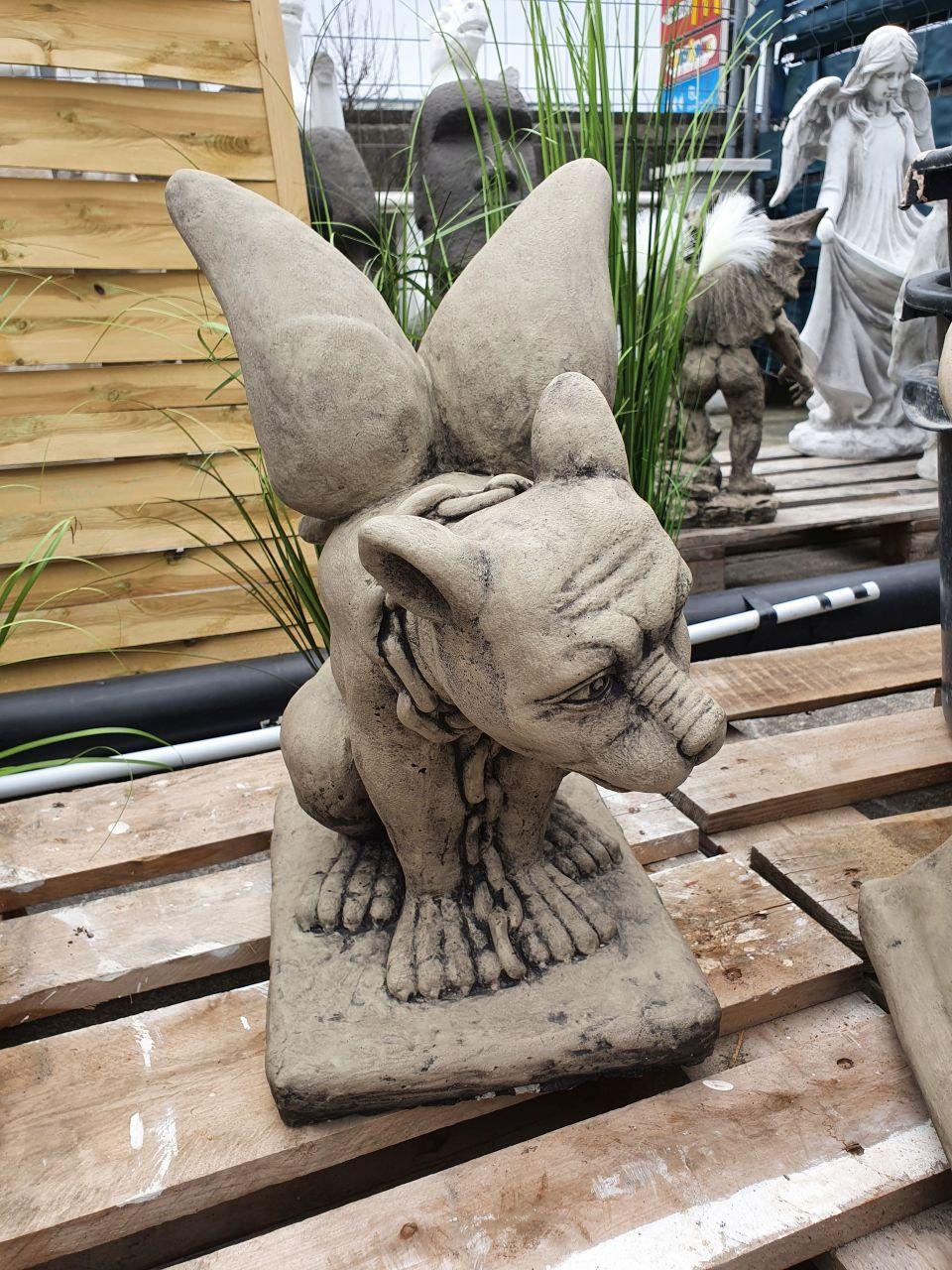 Gartenfigur Gargoyle 2er Set- Antik