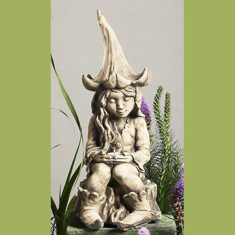 Gartenfigur Lichterfee- Betonguss-von Zauberblume