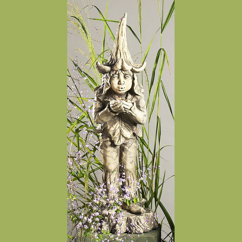 Gartenfigur Lichtertroll- Betonguss-von Zauberblume