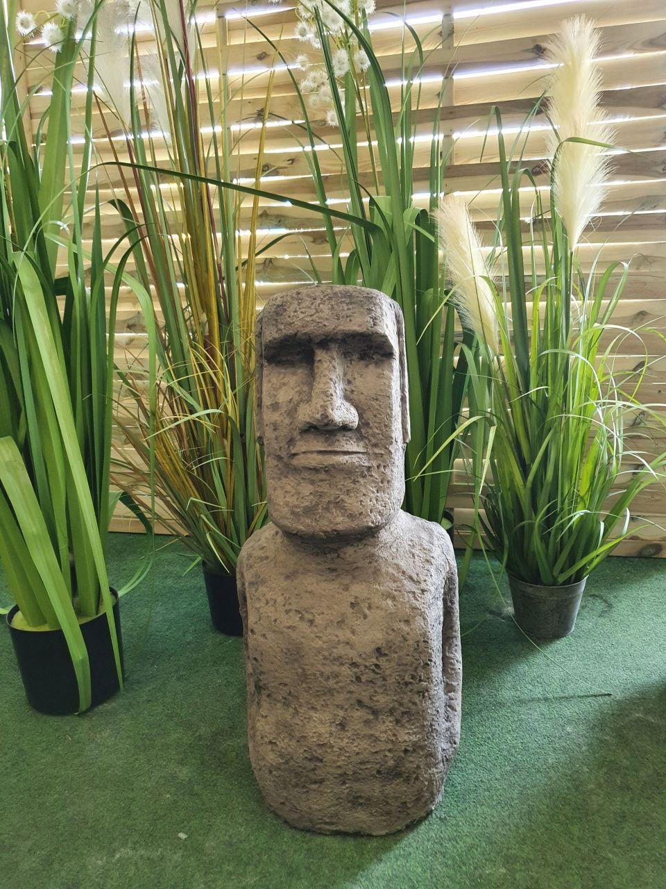 Gartenfigur Moai 1 Antik aus Betonguss