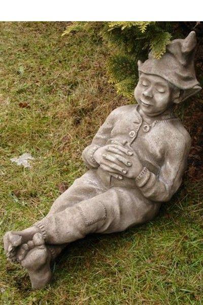 Gartenfigur SCHLAFENDER WICHTEL (c) by Fiona Scott- Steinguss