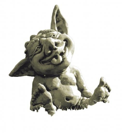 Gartenfigur Troll-Baby FIN- Steinguss