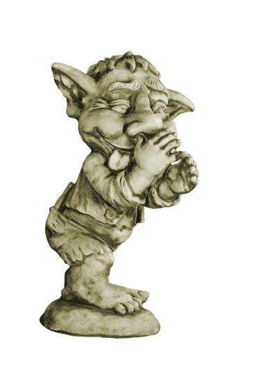 Gartenfigur Troll Spitzbube LEN- Steinguss