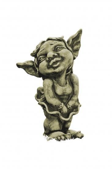 Gartenfigur Trollmädchen MALIN- Steinguss