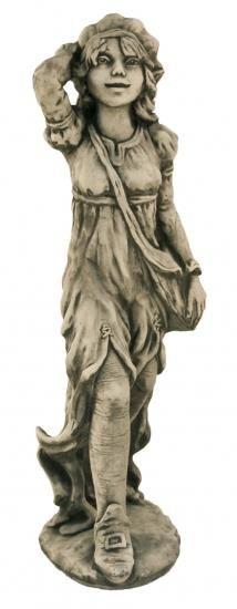 Gartenfigur Waldläuferin HILDE- Steinguss