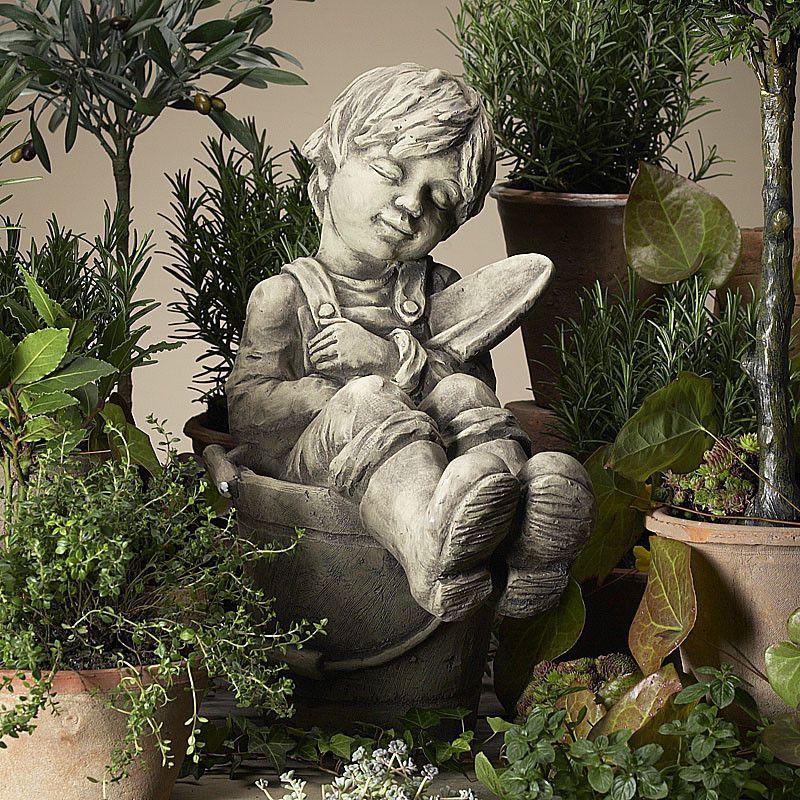 Gartenkind Felix- Betonguss-von Zauberblume