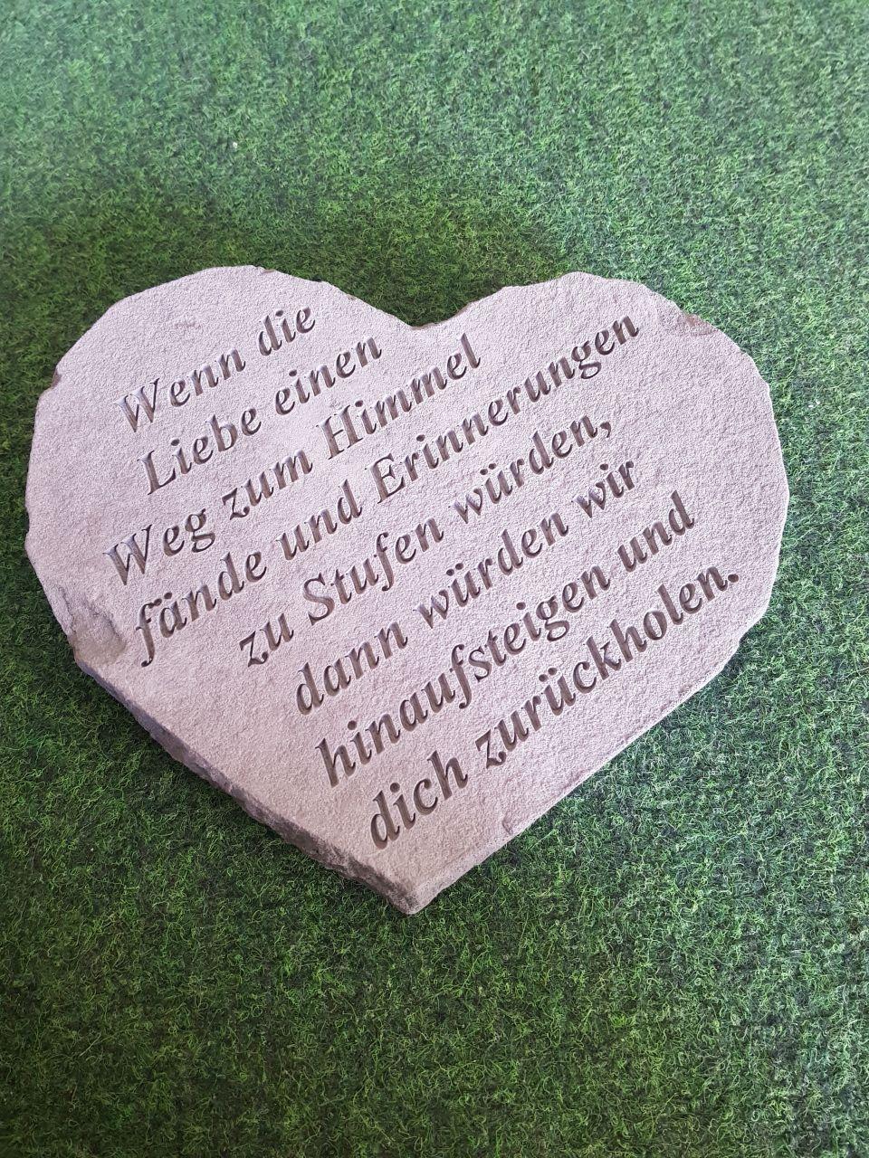 Gedenkstein Wenn die Liebe- gross