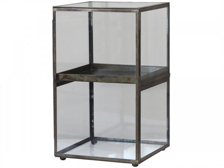 Glasschaukasten m- rausnehmbaren Fach von Chiq Antique