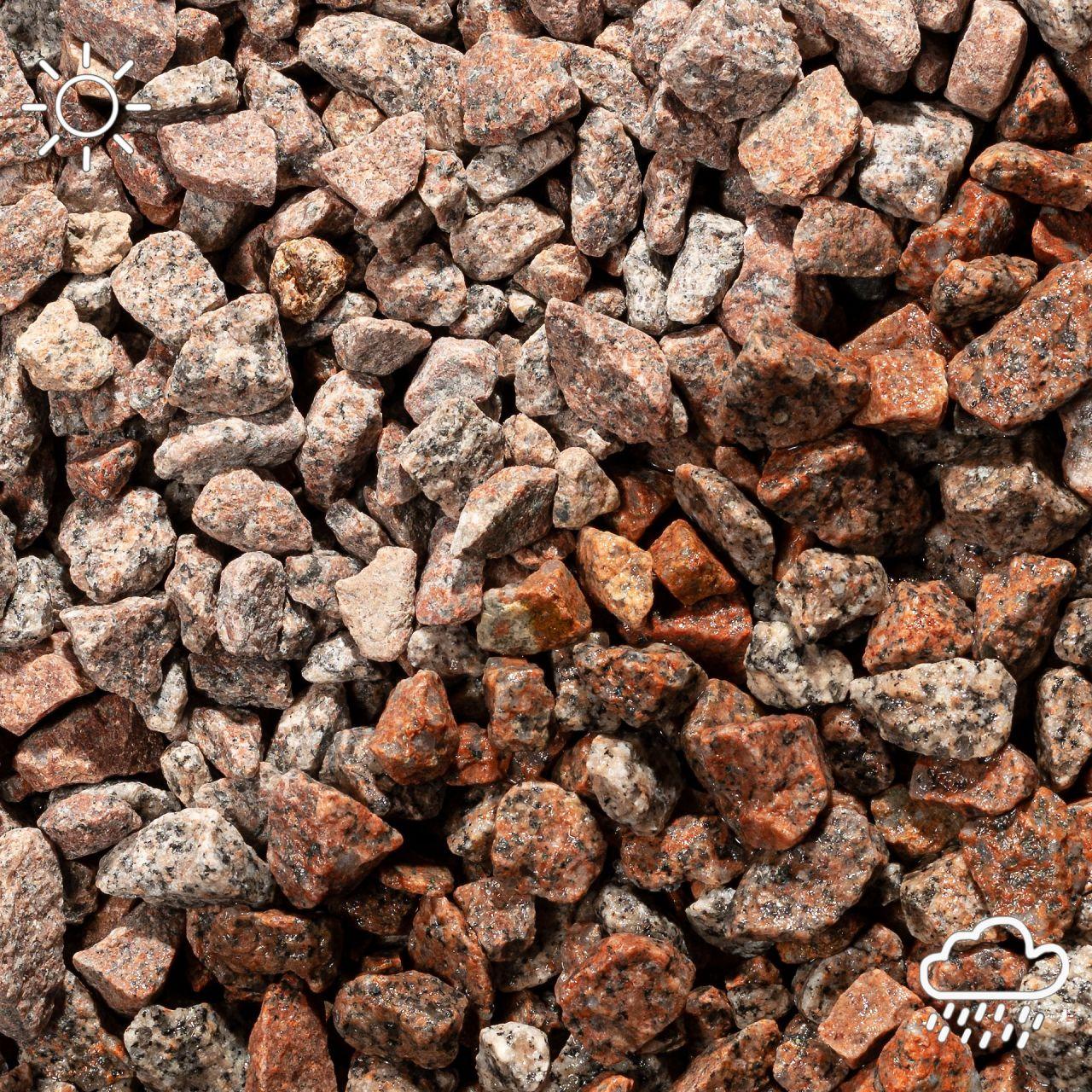 Granitsplitt rot-schwarz- 8-16mm- 20Kg